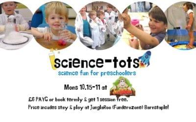 Science Tots – Monday's 10.15 – 11am