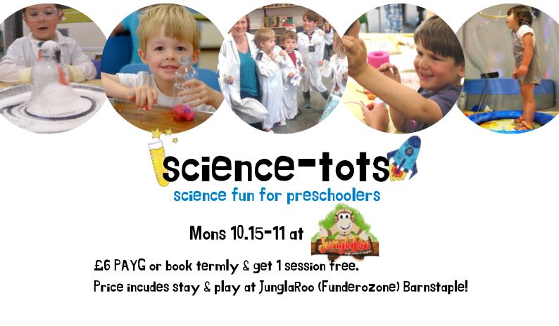 Science Tots – Monday's 10.15 – 11am
